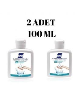 2 Adet Konix 100 ml Antibakteryal El ve cilt Dezenfektan Jel Hand Sanitizer