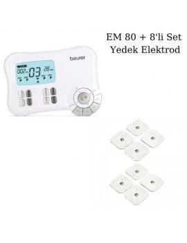 Beurer EM 80 Kaslar için Terapi Masaj EMS Cihazı ve 8'li Set Yedek Elektrodlar