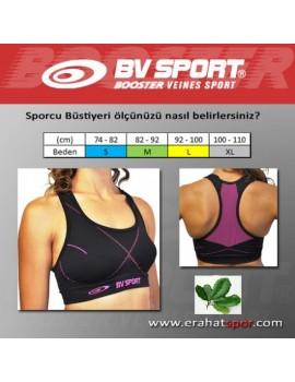 BV SPORT Sports Bra Kadın Spor Büstiyeri - Pembe