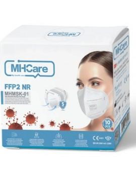 PULSEMED MH-care FFP2 NR MASKE 10'LU PAKET 3 ADET + HEDİYELİ  KONİX 500ML DEZ. JEL